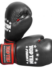 TOP TEN FIGHT Boxing Gloves - Black