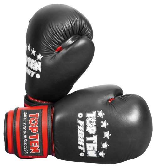 TOP TEN FIGHT Boxing Gloves - Black