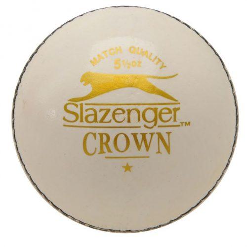 Slazenger Crown Cricket Ball - White