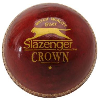 Slazenger Crown Cricket Ball - Red