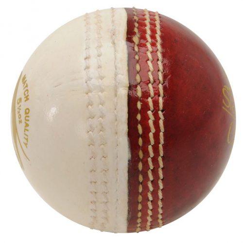 Slazenger Crown Cricket Ball - Red/White