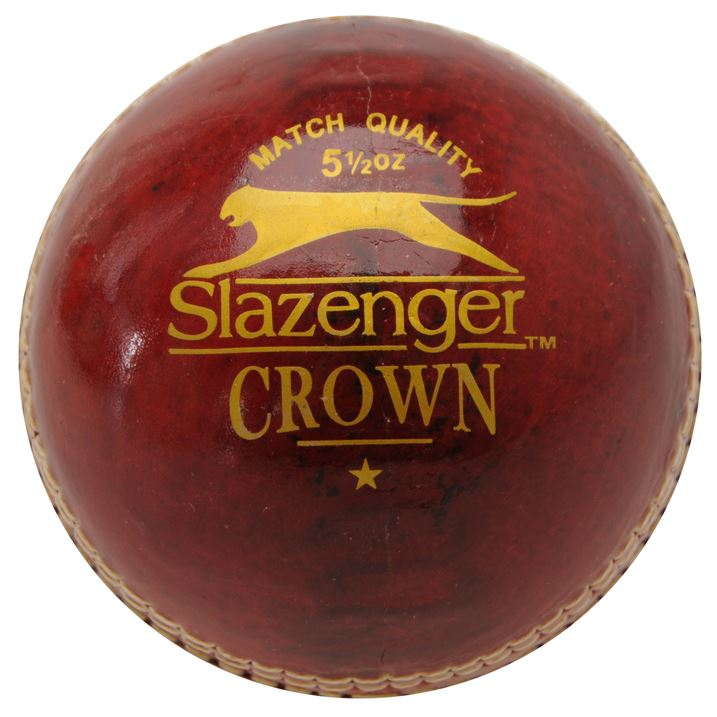 Slazenger Crown Cricket Ball - Red/White