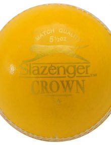 Slazenger Crown Cricket Ball - Yellow/Red