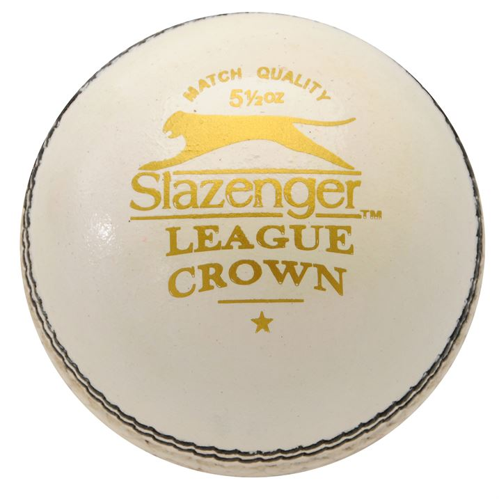 Slazenger League Crown Cricket Ball - White