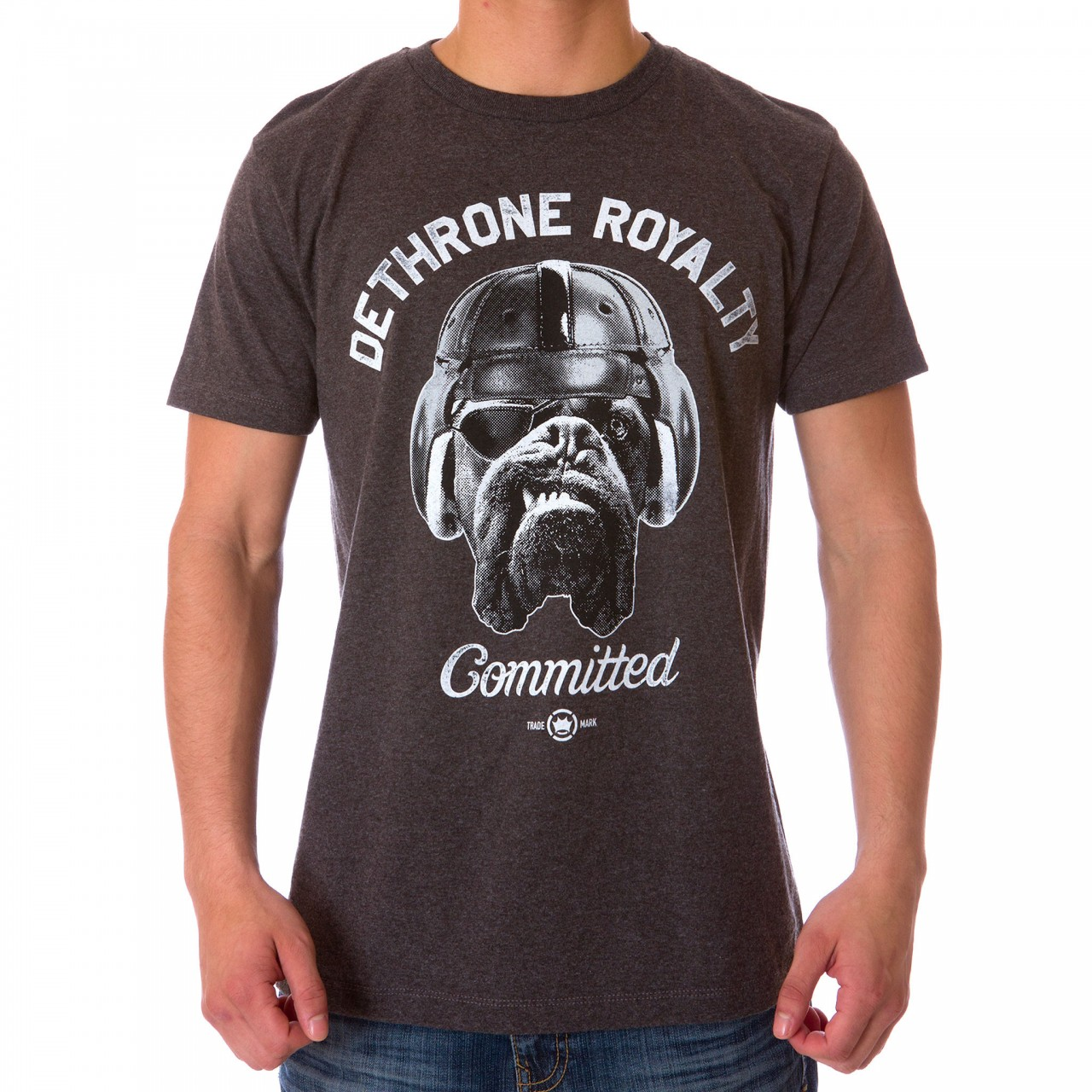 Dethrone Committed Dog tee - Charcoal