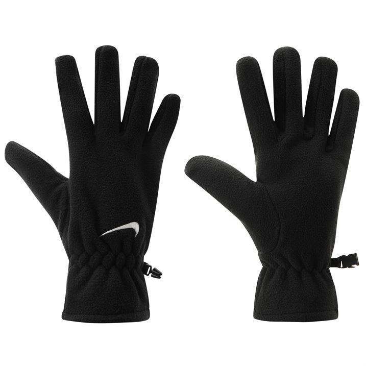 Nike Fleece Gloves Mens - Black/White