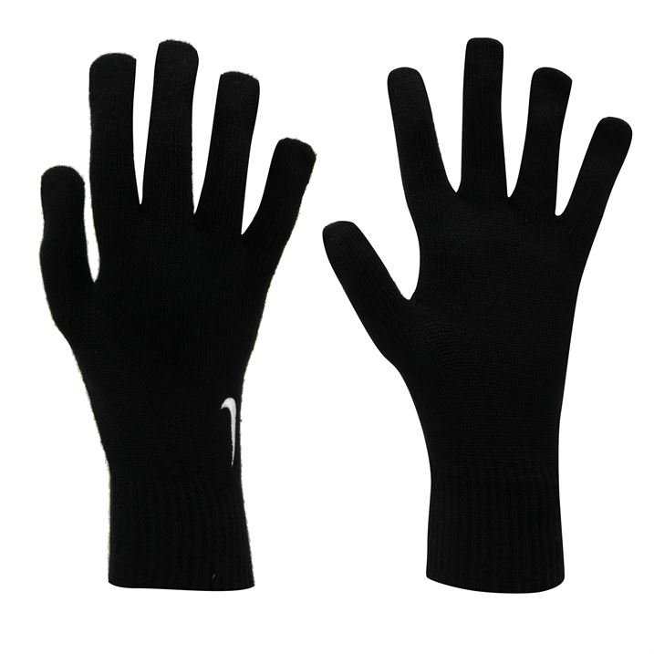 Nike Knitted Gloves Mens - Black/White