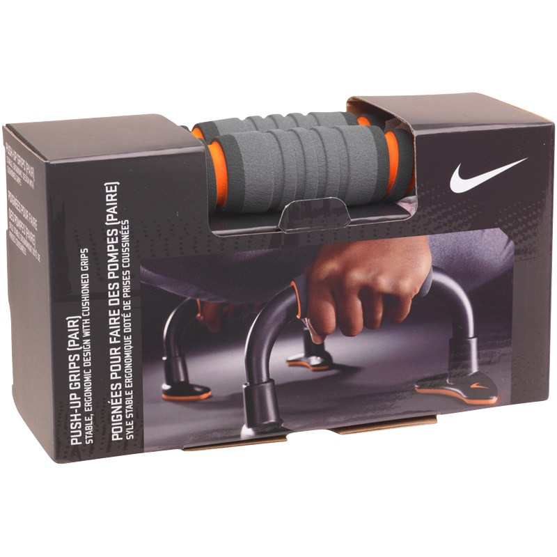 Nike Mens Push Up Grips - Charcoal/Orange