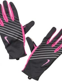 Nike Womens Lightweight Tech Running Gloves - Black/Pink/Silver
