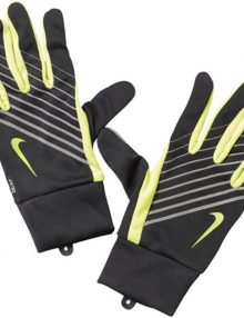 Nike Mens Lightweight Tech Running Gloves - Black/Volt