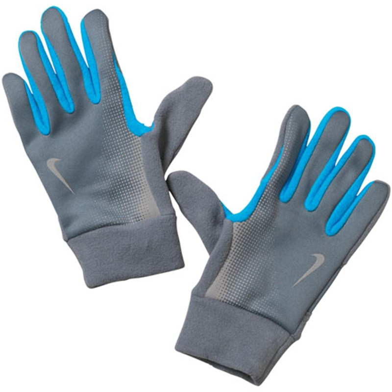 Nike Mens Tech Thermal Running Gloves - Grey/Blue