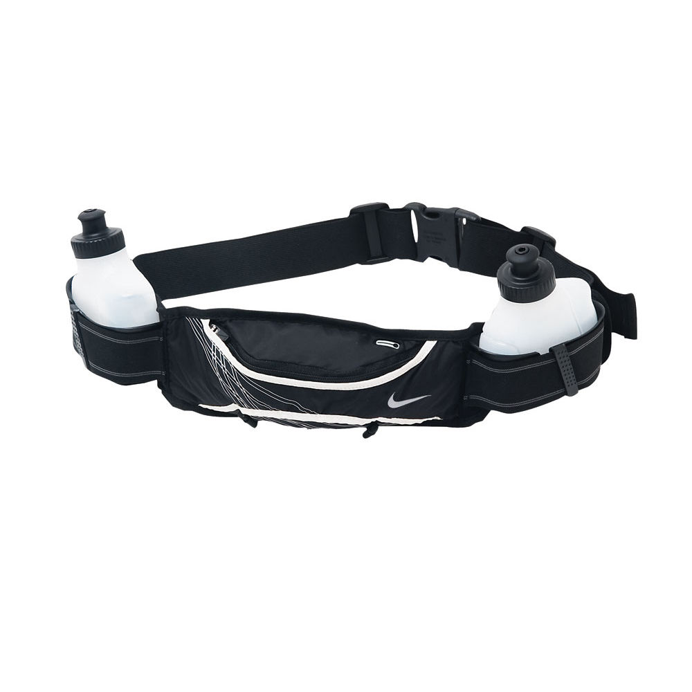 Nike Lightweight Hydration 2 Bottle Belt - Black/Silver