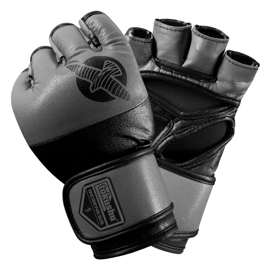 Hayabusa Tokushu® Regenesis 4oz MMA Gloves - Black / Grey