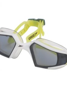 Speedo Mens Aquapulse Max Goggle - White / Charcoal / Lime