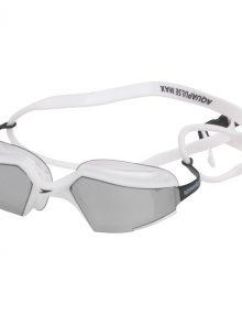 Speedo Mens Aquapulse Max Mirrored Goggles - White / Silver