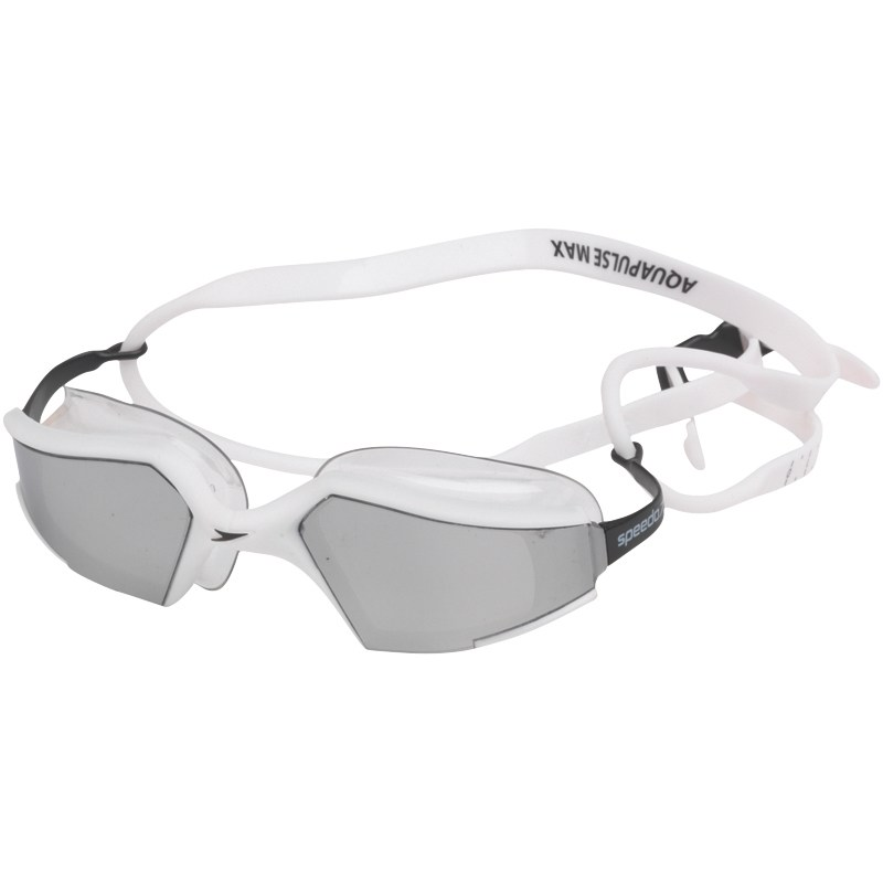 Speedo Mens Aquapulse Max Mirrored Goggles - White / Silver