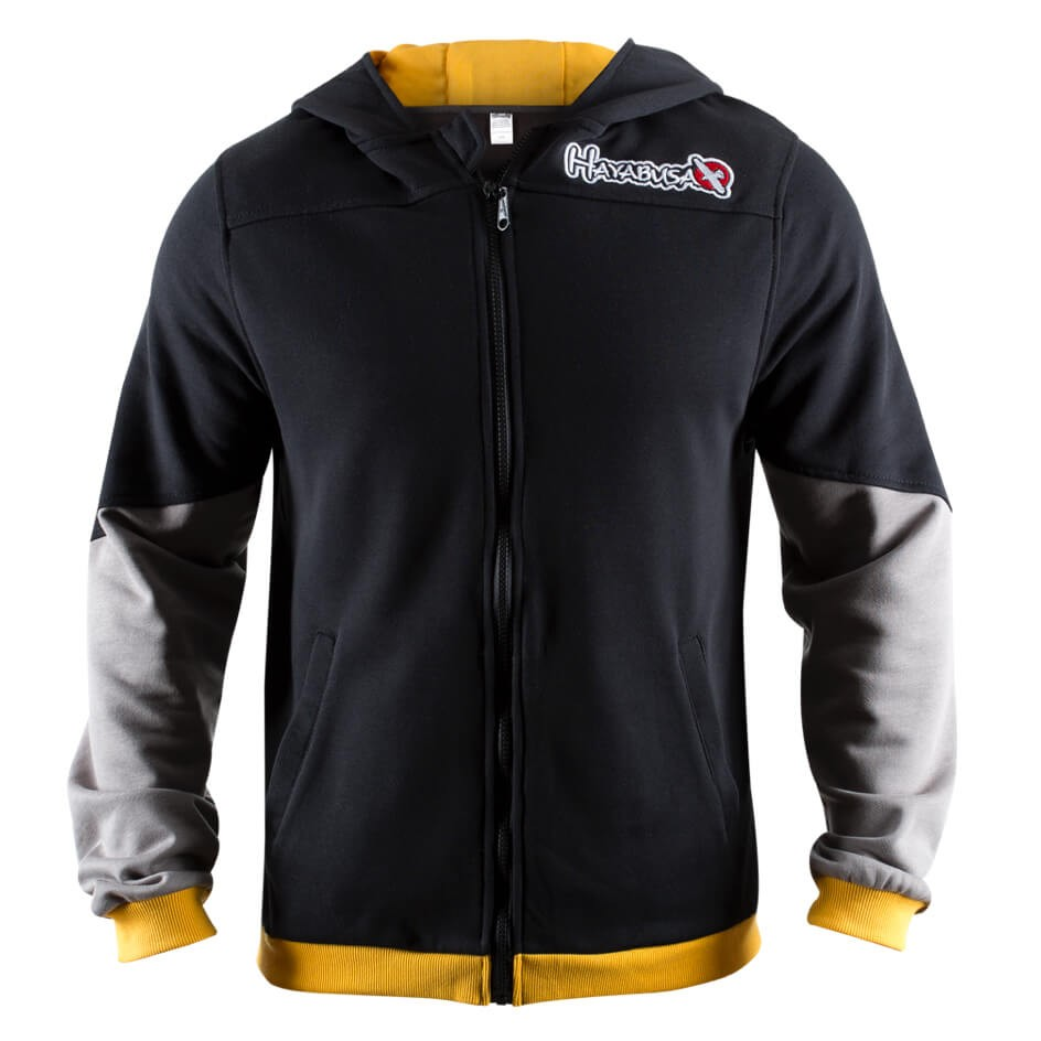 Hayabusa Wingback Hoodie - Black / Grey / Yellow