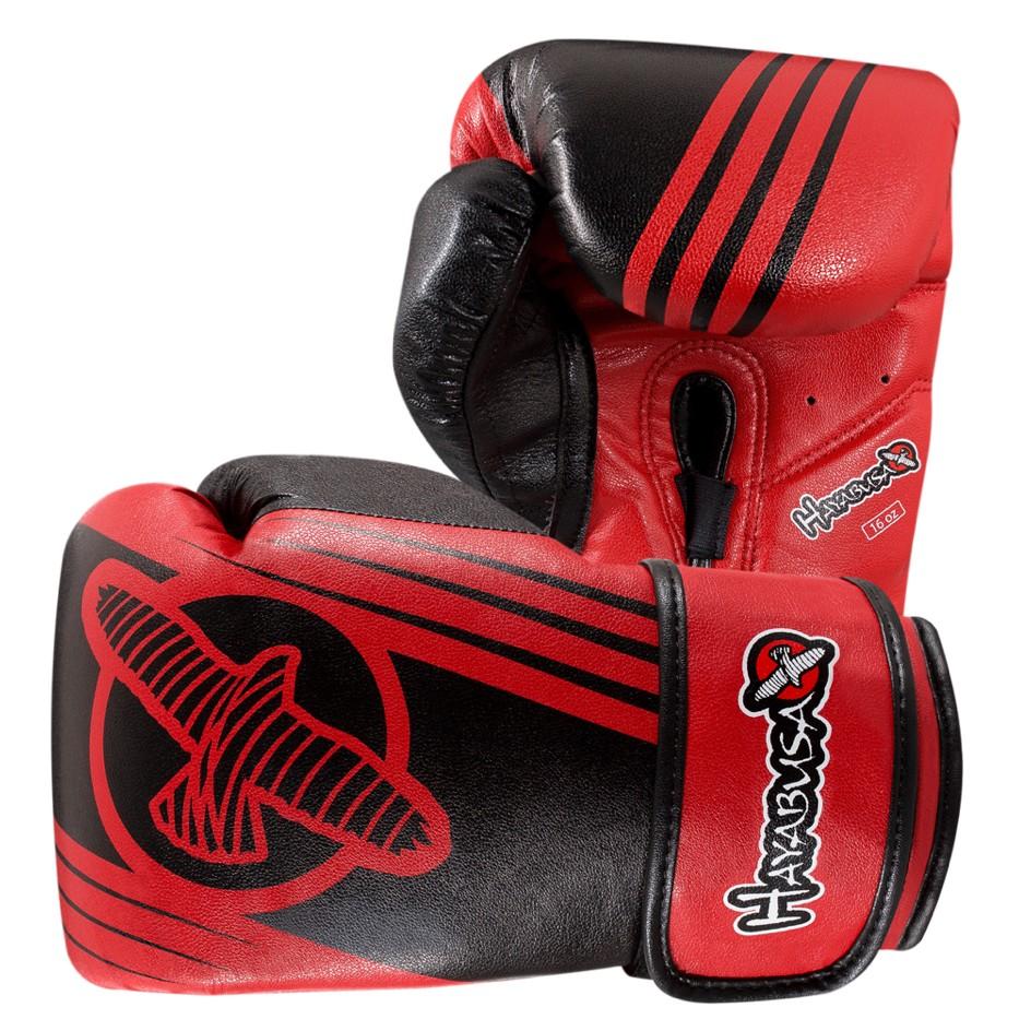 Hayabusa Ikusa Recast 16oz Gloves - Black / Red