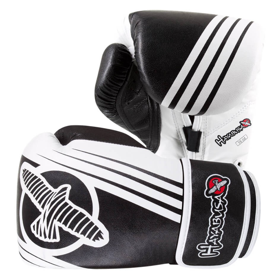Hayabusa Ikusa Recast 16oz Gloves - Black / White