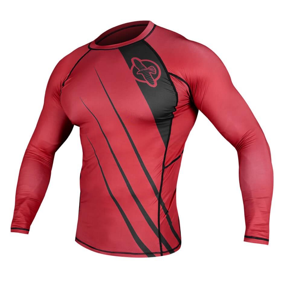 Hayabusa Recast Rashguard Long Sleeve - Red / Black