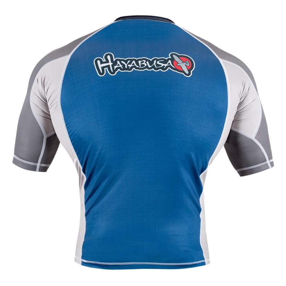 Hayabusa Showdown Rashguard Short Sleeve - Blue / Grey